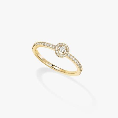 MESSIKA geltono aukso žiedas su deimantais  BG JOY