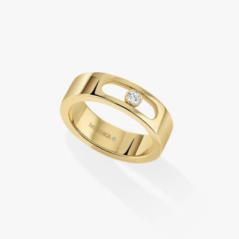 MESSIKA geltono aukso žiedas su deimantais