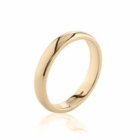 Geltono aukso žiedas ( 4 mm pločio)